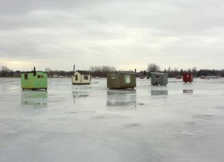 Ice Shanty Removal - Outdoor Newspaper