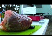 Wild Game Cooking Video: Cooking & Eating The Heart