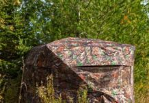 Kill Shot Camouflage Pop-Up Hunting Blind 180 Degree View 2-Person