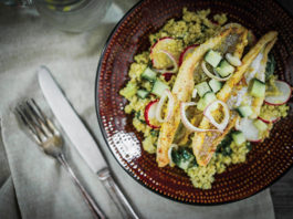 Blackened Catfish with Quinoa and Citrus Vinaigrette for Easter Lent