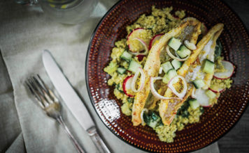 Blackened Catfish with Quinoa and Citrus Vinaigrette