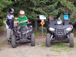 One safety tip is to never ride ATVs or UTVs alone. If a mishap happens, you may need immediate help. - Photo credit: DNR
