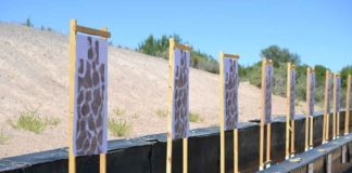 Paper targets at a gun range for target practice | Outdoor Newspaper