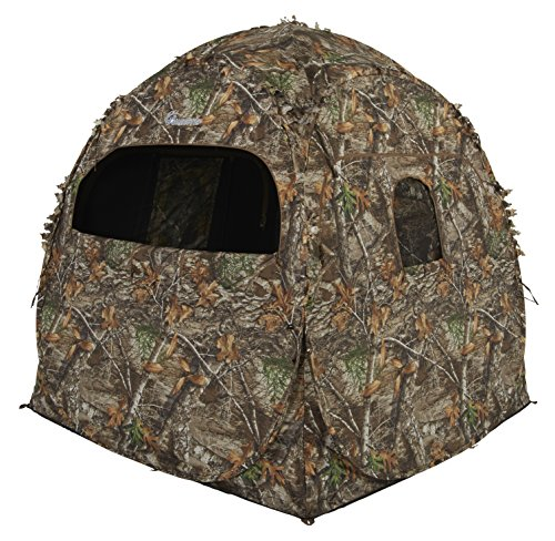 Ameristep Doghouse Ground Blind, Two Man Hunting Blind in Realtree Edge Camo