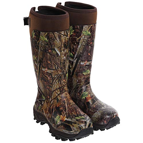 Hisea Hunting Boots for Men Waterproof Mens and Womens Rain Boots Neoprene Rubber Insulated Shoes Camo